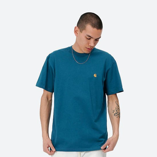 Carhartt WIP S / S Chase T-Shirt I026391 CORSE/GOLD