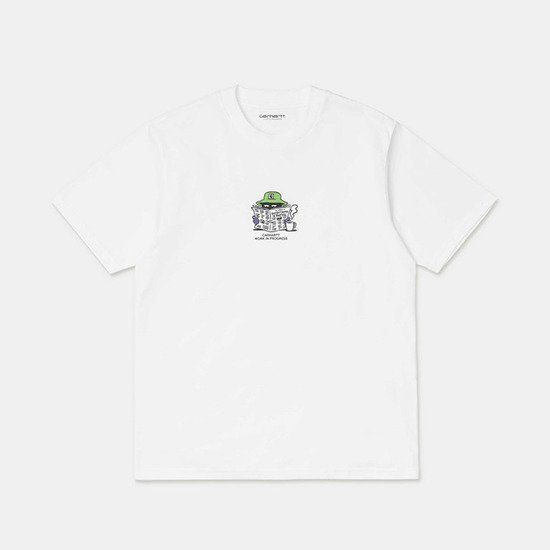 Carhartt WIP S/S Everything is Awful T-Shirt I028742 WHITE
